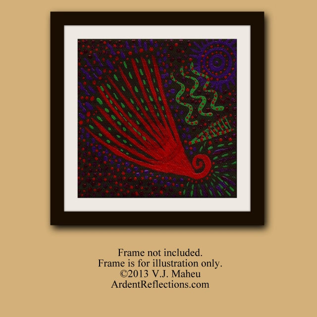 Small Painting, contemporary style, tribal art,tribal style,aborigine inspired,aboriginal art,dot painting,dot art,native style, Item #AVO1 aboriginal inspired, small handpainted, boho style,colorful abstract