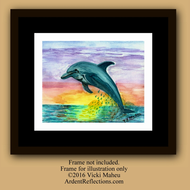 Dolphin Wall Art,Print Dolphin,Dolphin art print,dolphin home art,child's room decor,beach home decor,sea life decor,nursery decor,Item DS1 Mother's Day, Mothers Day, Ocean themed decor, ocean animal art, painting dolphin