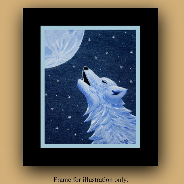 Wolf Decor, Wolf wall Art, Wolf print, howling wolf, wolf art, giclee print, denim decor, denim wall art, denim wolf, wildlife, Item #LLBP Wildlife art, boho decor, home decor