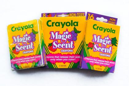 Crayola's Scented Crayons, unfortunately, most children thought they smelled good enough to eat!