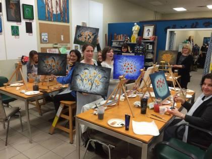 Painting classes at Art Slam Studio, Silverdale WA