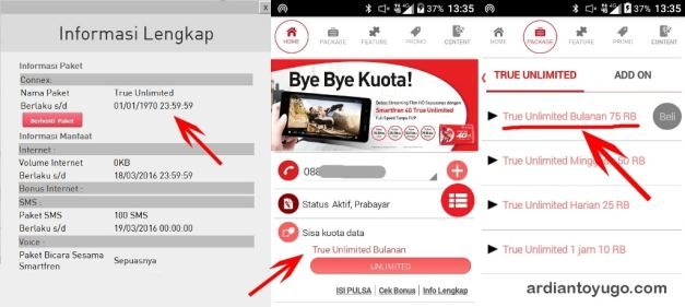 Paket internet true unlimited