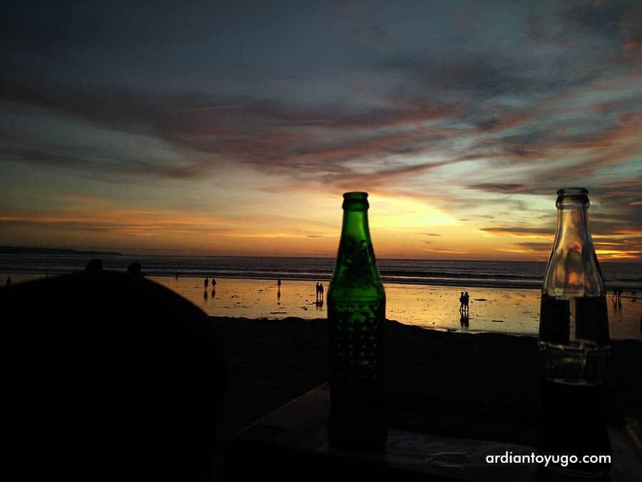 Sunset di Pantai Kuta Bali (2)