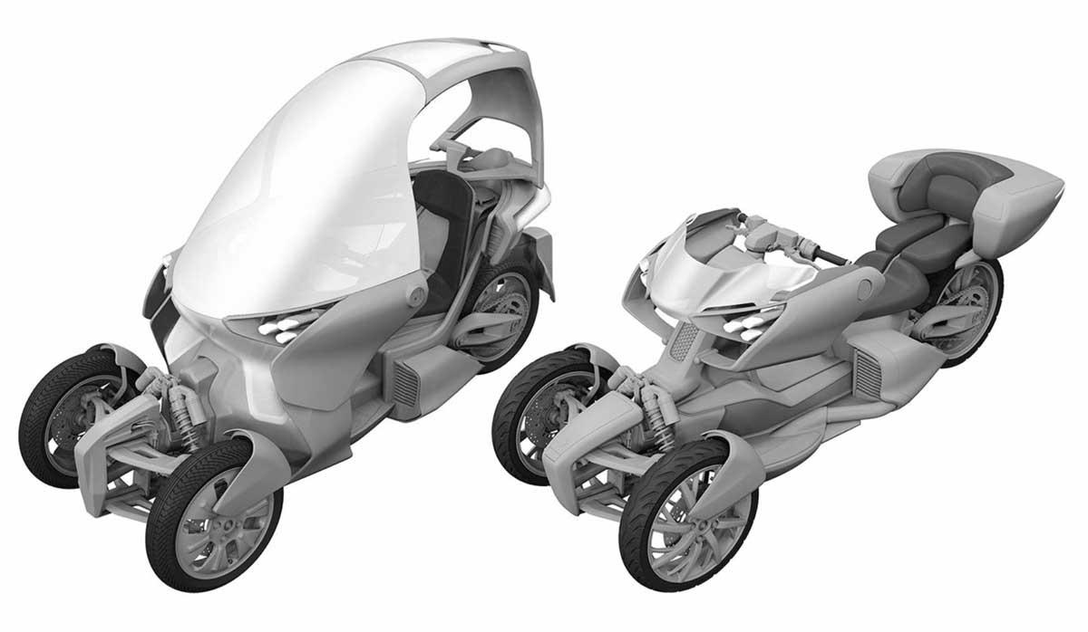 motor roda tiga yamaha