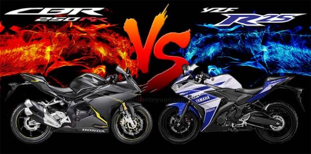 Honda CBR250RR VS Yamaha R25