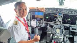 Capt. Bayu Chandra di dalam cockpit Boeing 737 Max series...