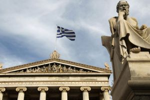 A statue of Greek philosopher Socrates is seen outside the Athens Academy November 7, 2011. REUTERS/John Kolesidis (GREECE - Tags: SOCIETY)