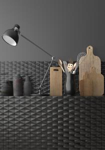 render-de-mosaico-de-ceramica-3d-negro