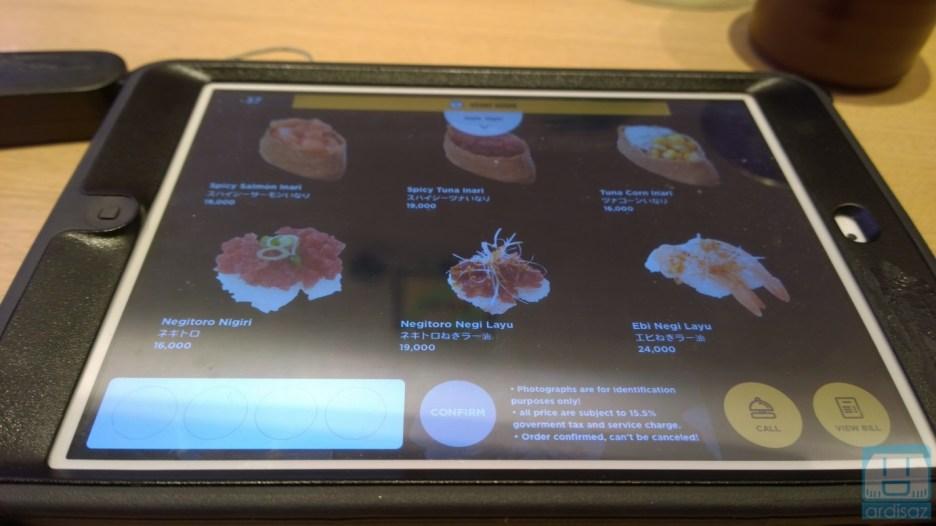 iPad untuk order menu