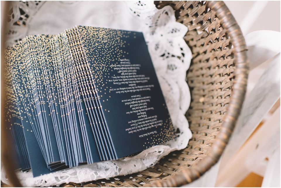 Book Theme Wedding ceremony detail