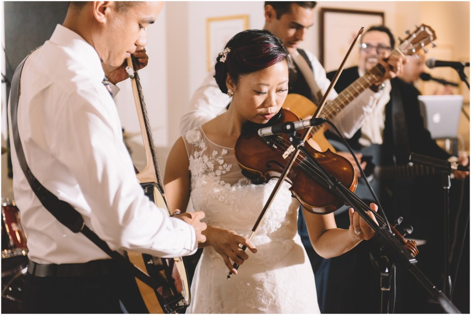 Book Theme Wedding Bride and Groom playing music and singing
