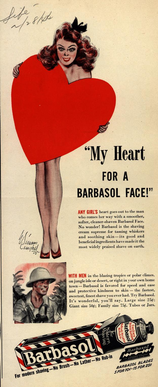 Vintage Barbasol Shaving Advertisements  ardnasselas