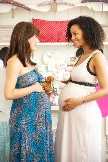 2 zwangere dames