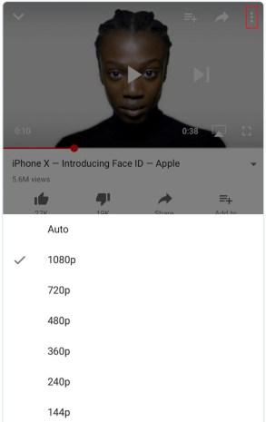change stream quality youtube