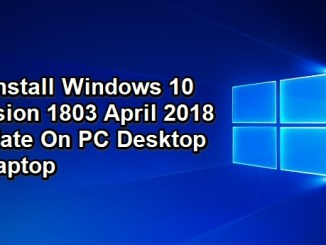 uninstall windows 10 version 1803