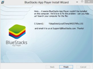 bluestacks couldn't be installed on this computer