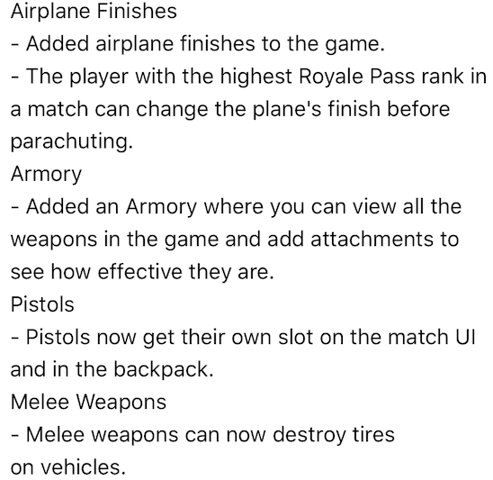 pubg mobile 0.6.0 final version notes 2