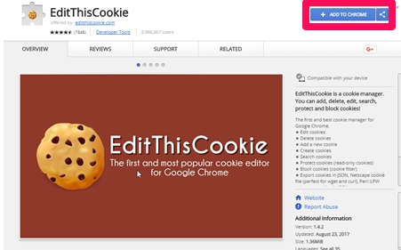 edit this cookie chrome