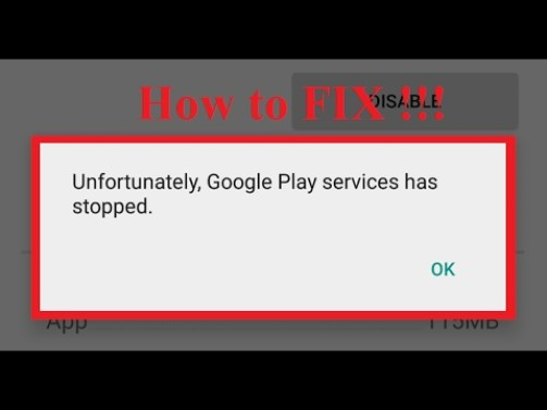 fix google play store has stopped error