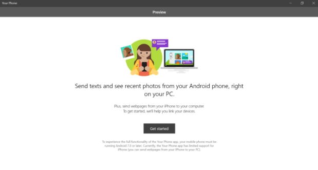 your phone app win 10