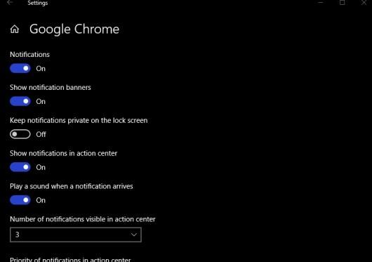chrome notifications windows 10