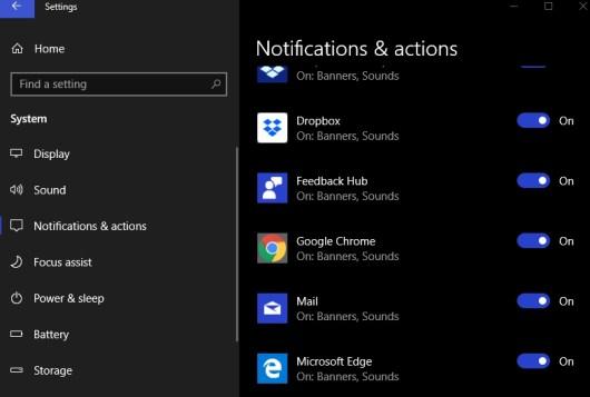 google chrome notifications settings windows 10