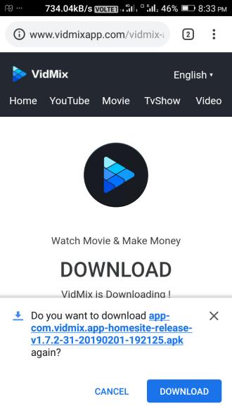 download vidmix app