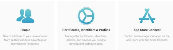 certificates, identifiers & profiles