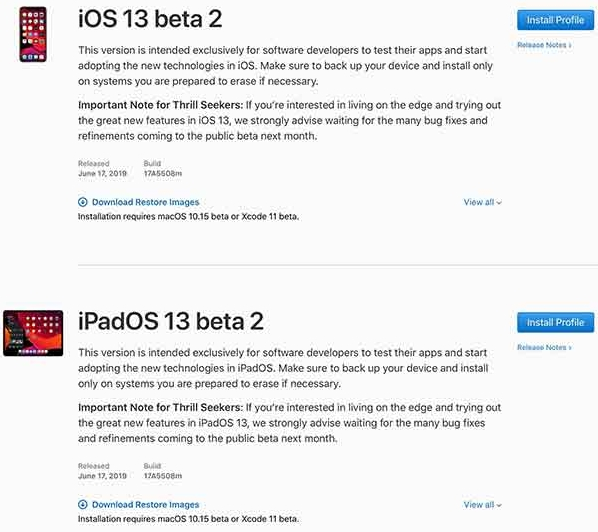 Download Beta 2 IPSW for iOS 13 and iPadOS 13 | AR Droiding