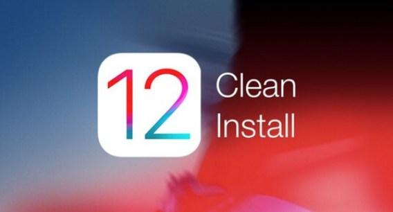 ios 12 clean install