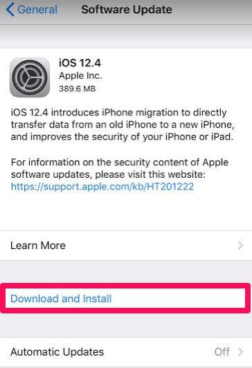 ios 12.4 ota update