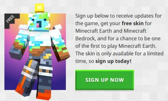 minecraft earth beta signup link