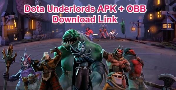 dota underlords apk mod + obb