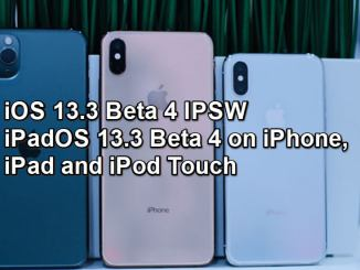 ios 13.3 beta 4 ipsw download install