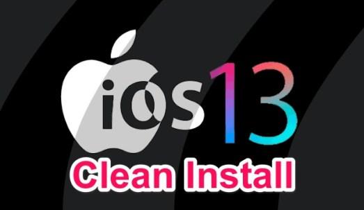 ios 13 clean install