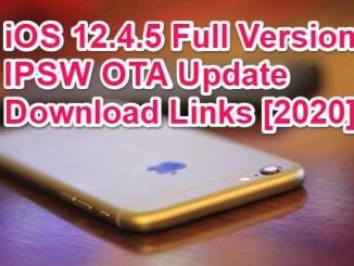 ios 12.4.5 ipsw direct download links 2020