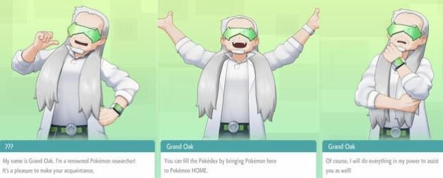 pokemon home professor oak