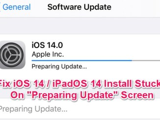 ios 14 install stuck