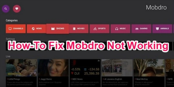 fix mobdro not working