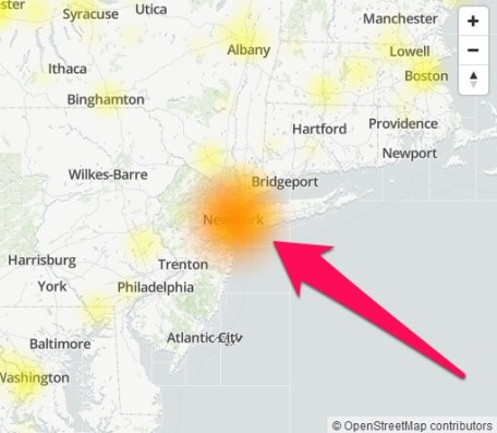 spectrum tv app outages map
