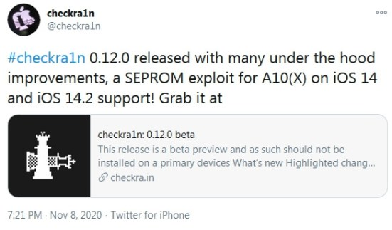 checkra1n 0.12.0 download