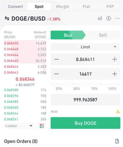 binance bitcoin app