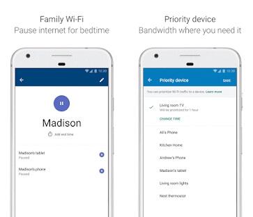 google wifi app screenshot