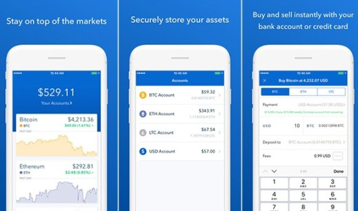 coinbase buy and sell bitcoin
