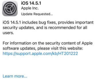 ios 14.5.1 release notes