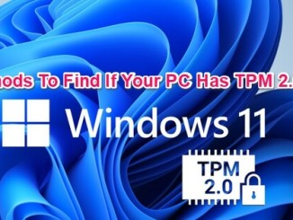 check if your pc has tpm 2.0 chip