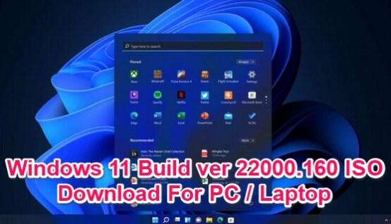 windows 11 build 22000.160 iso
