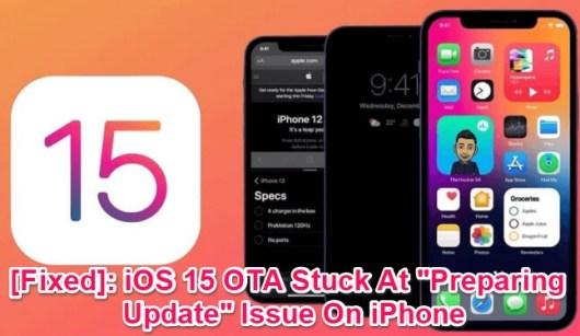 ios 15 ota stuck at preparing update