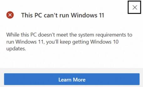 this pc can't run windows 11