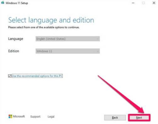 windows 11 select language
